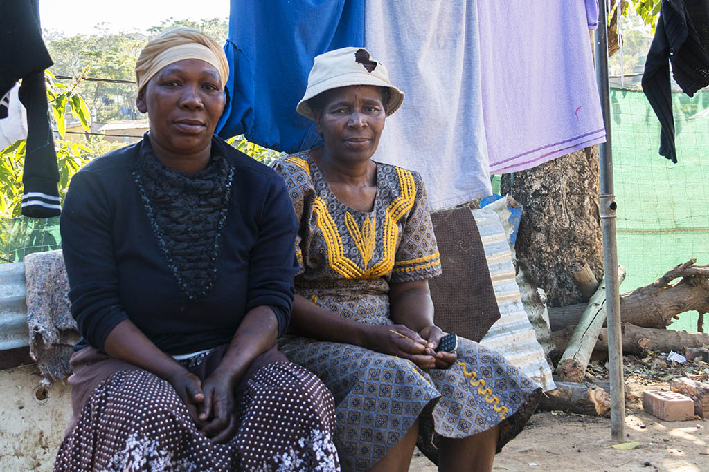 Two of the local woman who live with Tembe