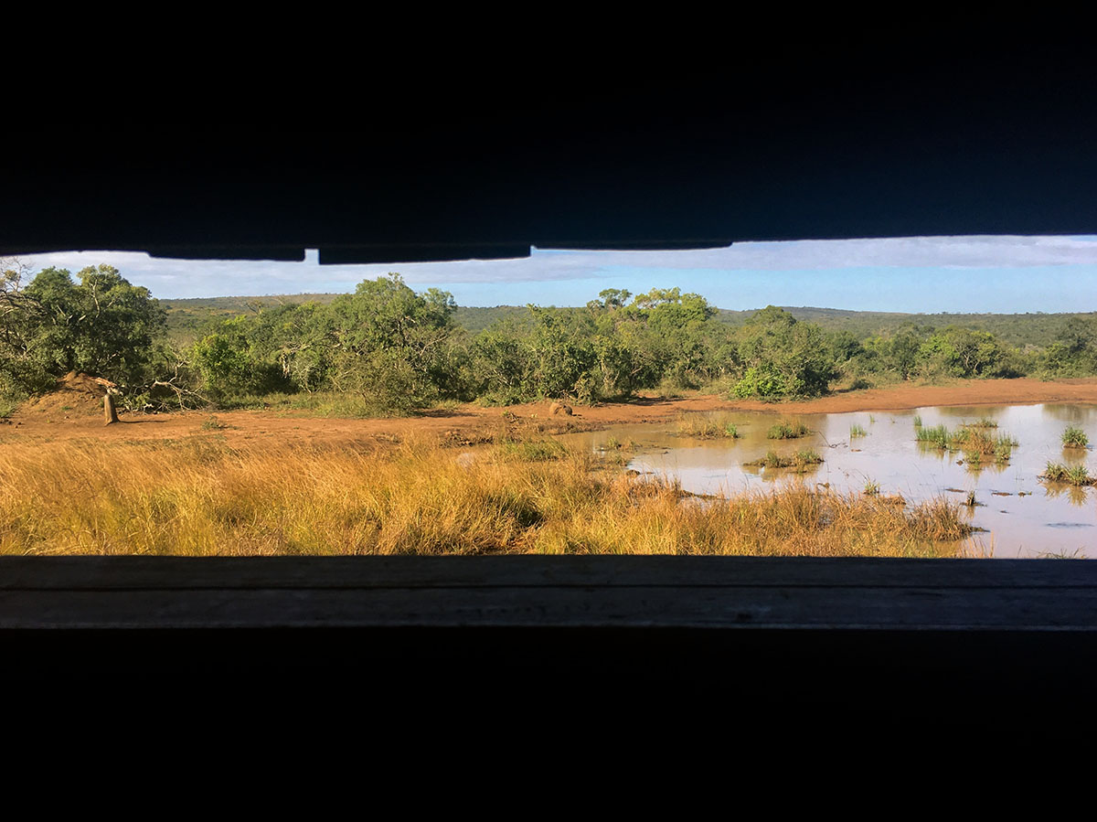 View from Thiyeni Hide over water expanse