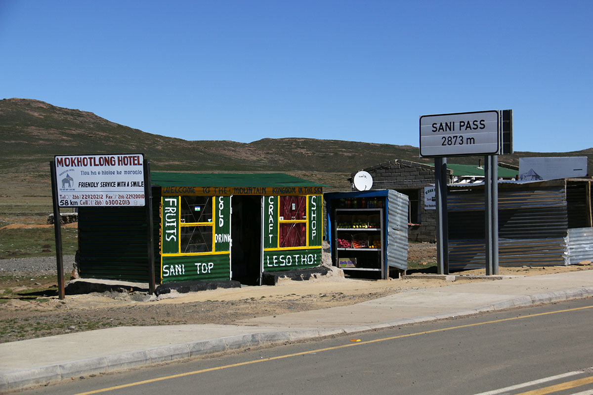 Lesotho Border Post, Sani Pass
