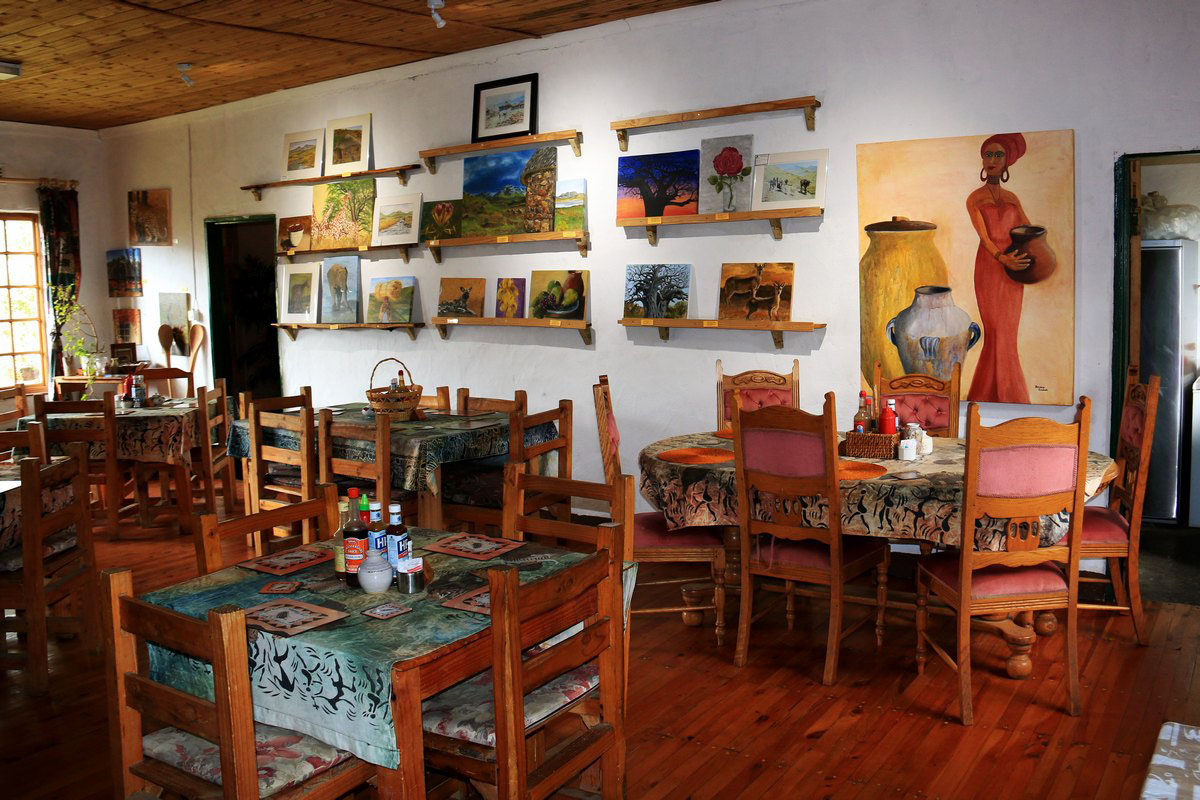 Dining Hall and Art Gallery at Sani Lodge Backpackers