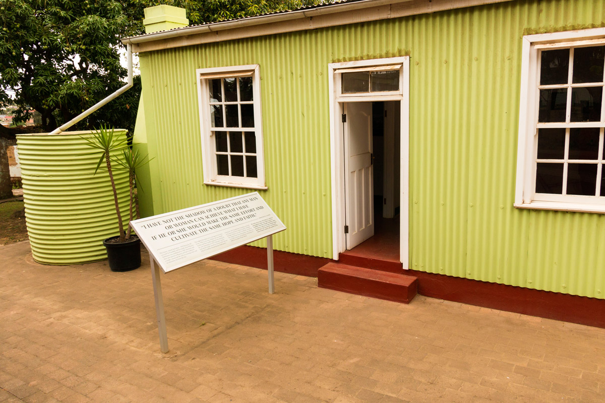 Ghandi's small green cottage
