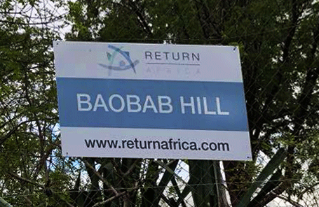 Sign Boabab Hill