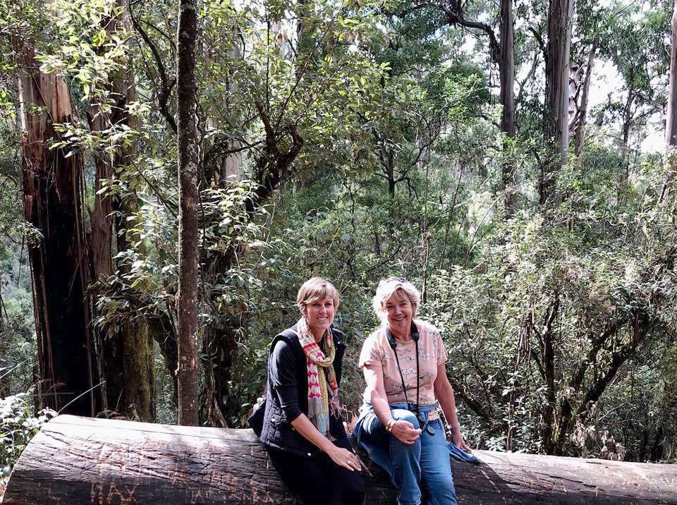 Myself and cousin Jill in Dandenong Mountains Melbourne