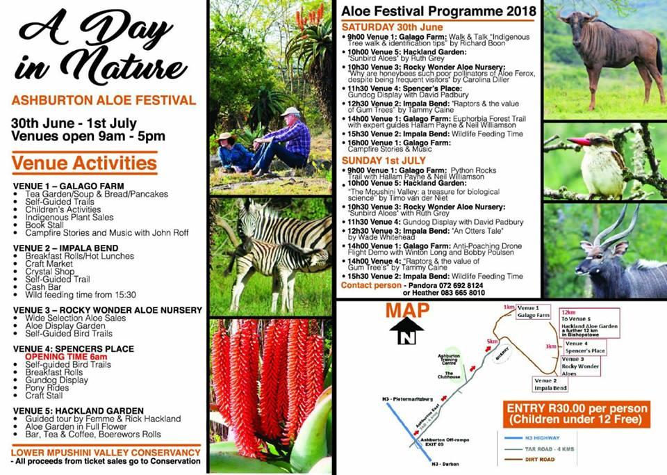 2018 Programme for Aloe Festival Ashburton